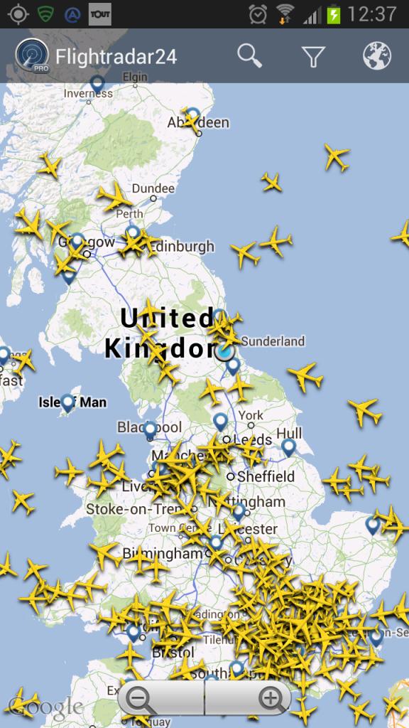 England with aeroplanes