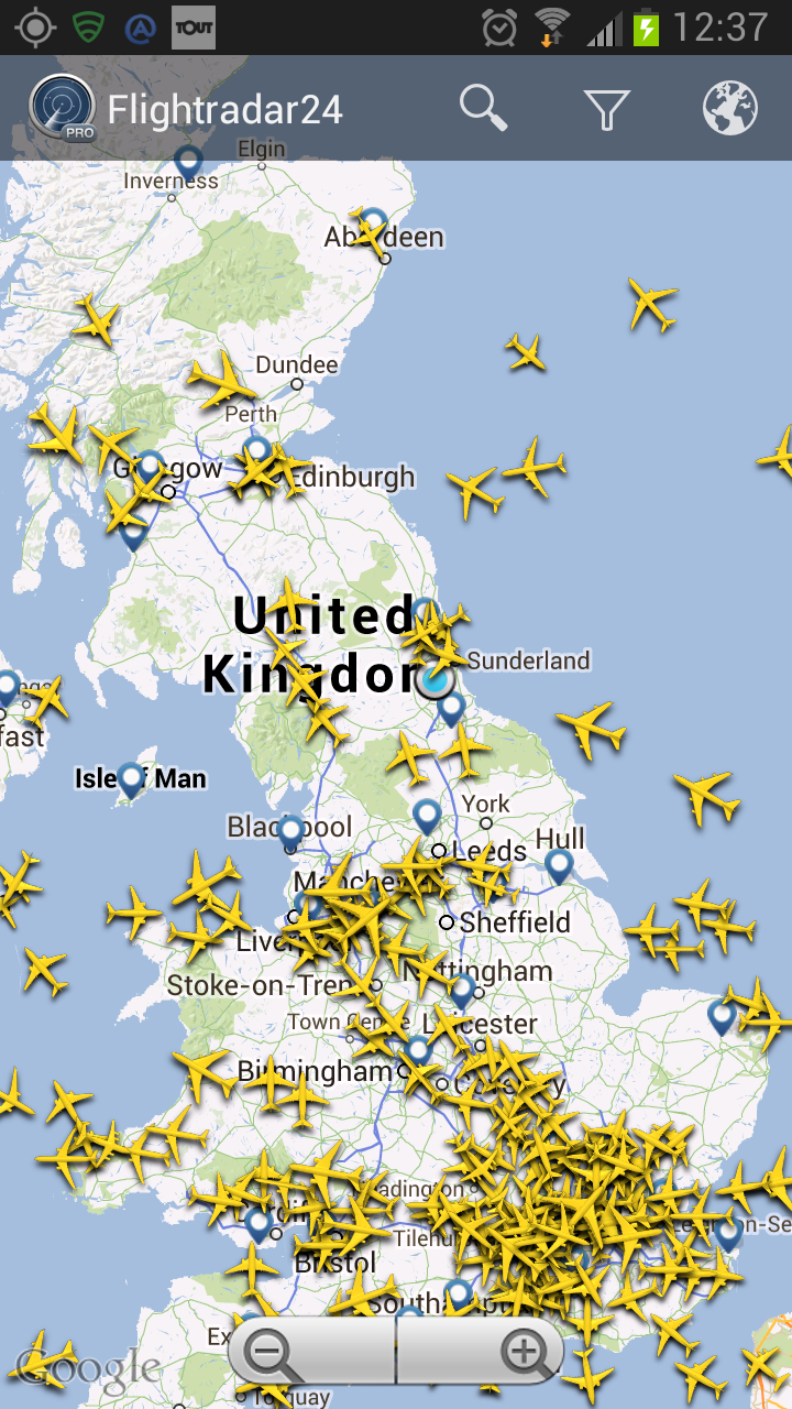 England with aeroplanes